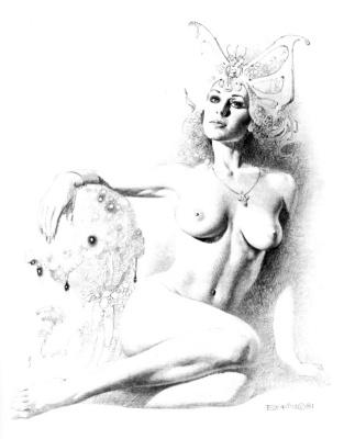 Boris Vallejo (Valeggio). Pensive Muse