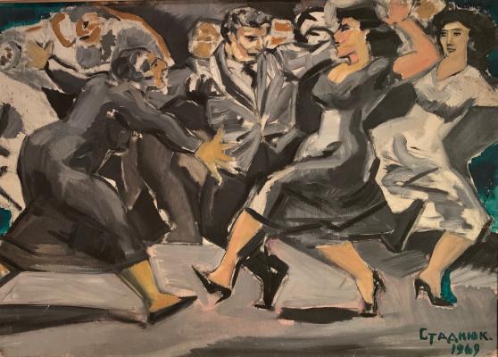 """Иван Стаднюк, 1935гр. В 1952 году окончил художественное училище в Симферополе. Малоизвестный художник советского периода с траг. """"Твист"""""""