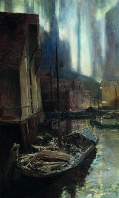 Konstantin Korovin. Hammerfest. Northern lights