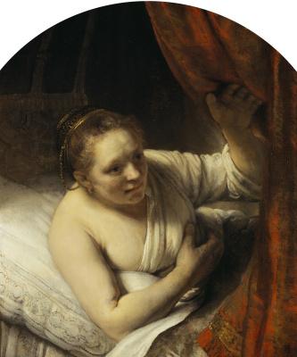 Rembrandt Harmenszoon van Rijn. Woman in bed