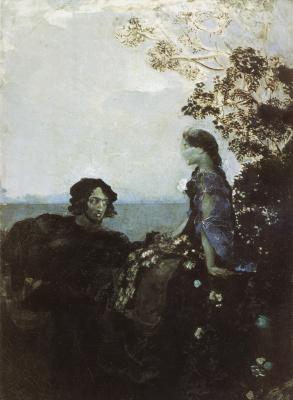 Mikhail Vrubel. Hamlet and Ophelia