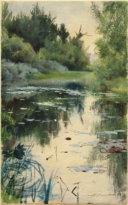 Anders Zorn. The landscape in Moore