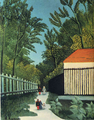 Henri Rousseau. View of the Montsouris Park