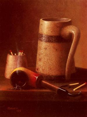 William Michael Harnett. Pipe and mug