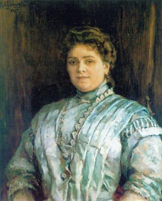 Vasily Ivanovich Surikov. Female portrait