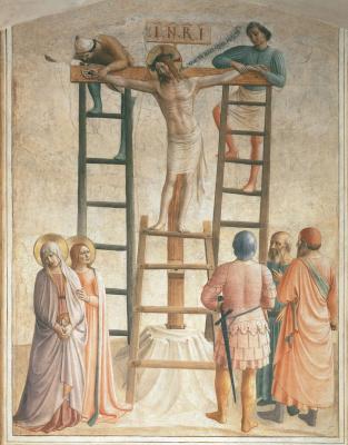 Фра Беато Анджелико. Иисуса пригвождают к кресту. 1440–1442