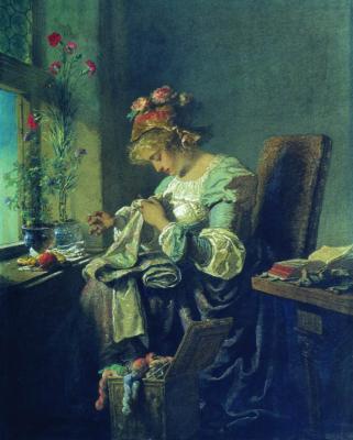 Mikhail Alexandrovich Zichy. Embroiderer. Orenburg Regional Museum of Fine Arts