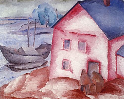 Алексей Ильич Кравченко. Розовый дом у реки
