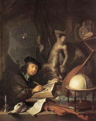 Gerrit (Gerard) Dow. The artist in the Studio