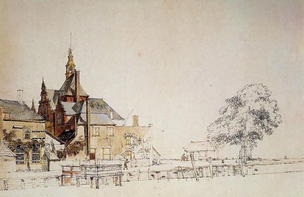 Йоханнес Шотел. Вид на ворота