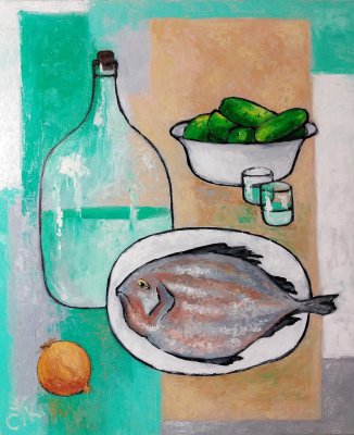 Светлана Константинова. Still life with fish