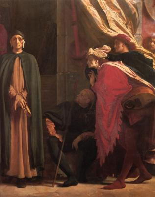 Frederic Leighton. Dante in exile (fragment)