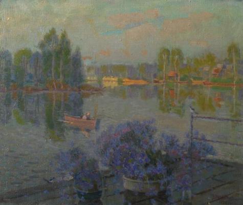 Виктор Васильевич Непьянов. Утро на озере