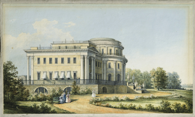 Nikanor Grigorievich Chernetsov. View of the Alexander Palace in Tsarskoye Selo. 1839
