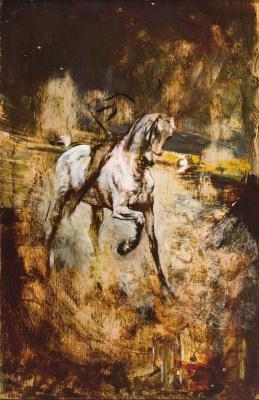 Giovanni Boldini. Rider on a white horse. Sketch