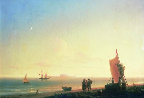 Ivan Aivazovsky. View of Capri