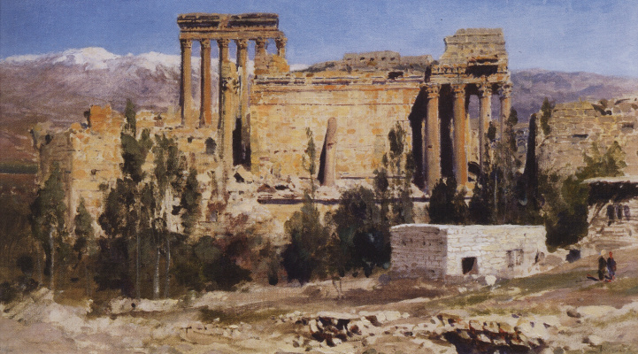 Vasily Dmitrievich Polenov. Baalbek. The ruins of the temple of Jupiter and temple of the Sun