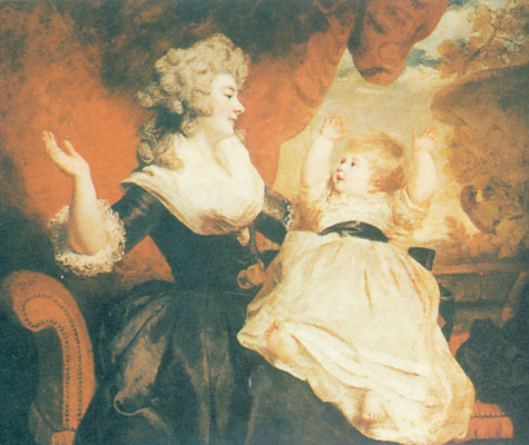 Joshua Reynolds. The Duchess of Devonshire and lady Georgiana Cavendish