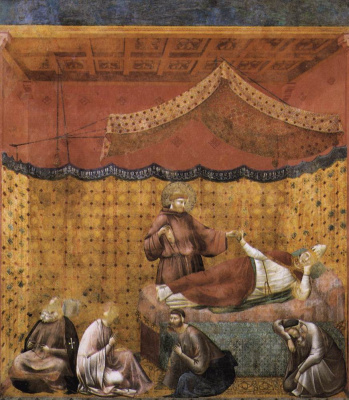 Giotto di Bondone. Dream of St. Gregory. The Legend of Saint Francis