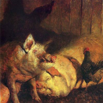 Jamie Wyeth. Pig night