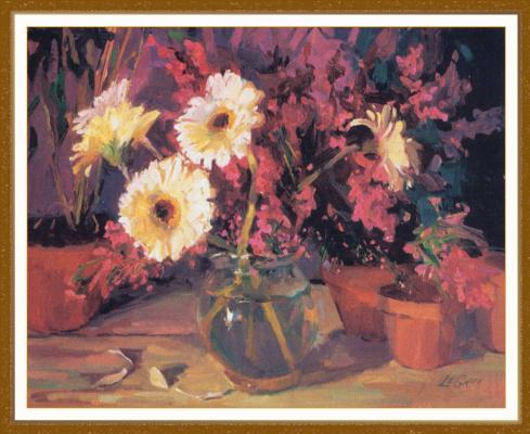 Дж Т Л Грю. Белые цветы в вазе
