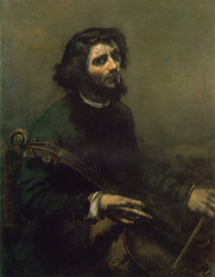 Gustave Courbet. Cellist