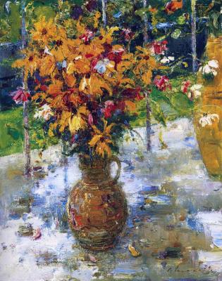 Sergey Fedorovich Shishko. Flowers on the balcony