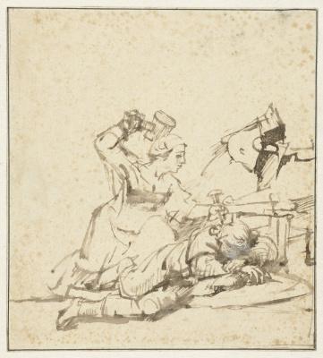 Рембрандт Харменс ван Рейн. Иаиль убивает Сисару