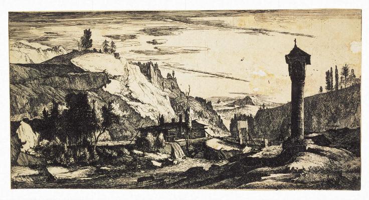 Рулант Рогман. Тирольский пейзаж с колонной