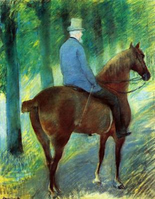 Mary Cassatt. Mr. Robert C. Casset horse