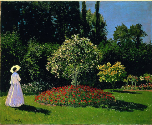 Claude Monet. Lady in the garden Sainte-Adresse
