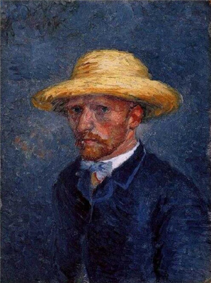 Vincent van Gogh. Portrait of Theo van Gogh (or a self-portrait of Vincent van Gogh?)