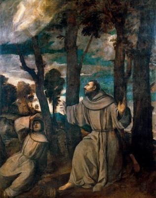 Тициан Вечеллио. Стигматы святого Франциска
