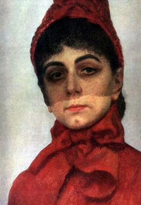 Ilya Efimovich Repin. Portrait of the Baroness V. I. Ikskul von Hildenbandt. Detail