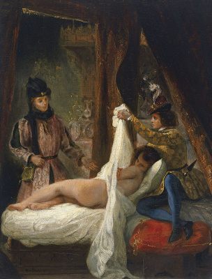 Eugene Delacroix. Louis of Orleans and his mistress