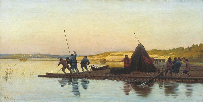 Alexey Danilovich Kivshenko. The floaters. 1879