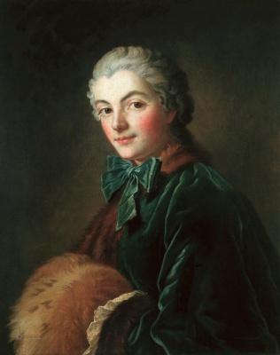 Francois Boucher. Portrait of a lady with clutch