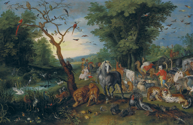 Jan Brueghel the Younger. Animal Entry on Noah's Ark