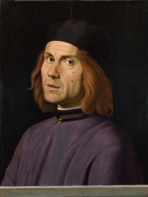 Lorenzo Costa. Portrait Of Battista Fiera