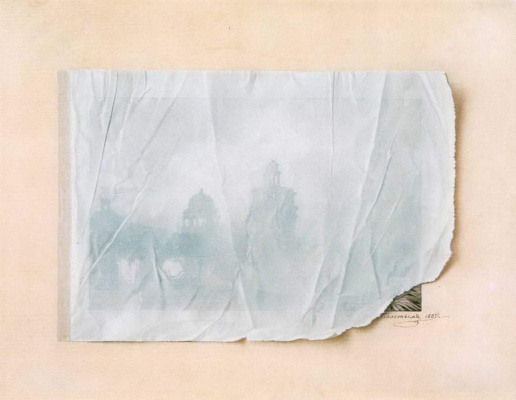 Fedor Petrovich Tolstoy. Architectural landscape under the transparent paper