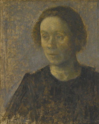 Vilhelm Hammershøi. Ida. Portrait of the artist's wife
