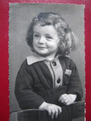 """""""Smile"""". Photocopy of the portrait of the mid-twentieth century."""