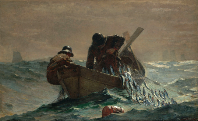 Winslow Homer. Herring in the network