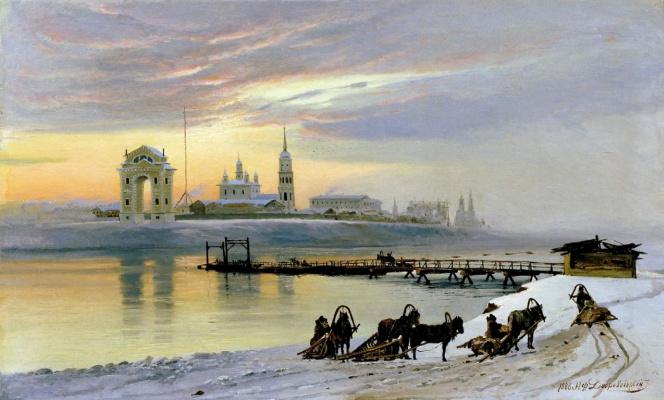 Переправа через Ангару в Иркутске