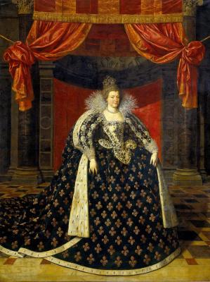 Франс Пурбус Младший. Мария Медичи, жена Генриха IV, короля Франции