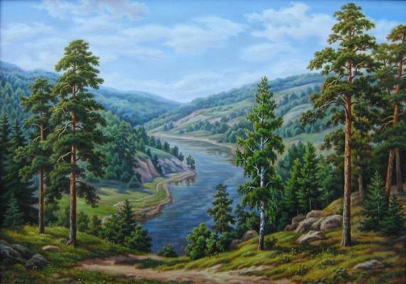 Андрей Никонорович Сутин. Ural landscape