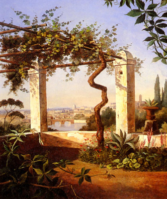 Maria Knull. Terrace with views of Rome