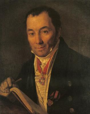 Alexey Gavrilovich Venetsianov. Portrait Khavsky