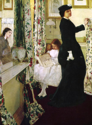 James Abbot McNeill Whistler. Harmony in green and rose: the Music room