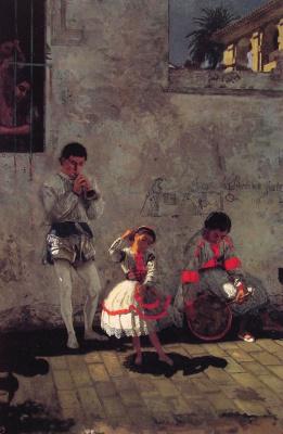 Томас Икинс. Уличная сцена в Севилье